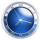 horloge bleu