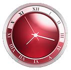 horloge rouge